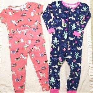 24 month baby girl pajamas footies pants Carter's
